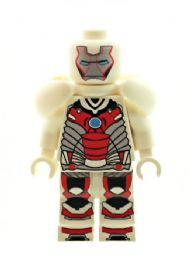 Ironman (Iron Man White with Shoulder Armour) - Custom Designed Minifigure